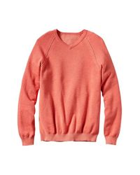 Tommy Bahama | Orange 'make Mine A Double V-neck' Raglan Pullover for Men | Lyst