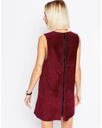 ASOS | Purple Suede Tunic Dress | Lyst