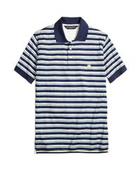Brooks Brothers | Blue Slim Fit Varigated Multistripe Polo Shirt for Men | Lyst