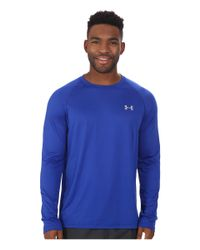 Under Armour | Gray Ua Tech™ Long Sleeve Tee for Men | Lyst