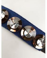 Marni - Blue Embellished Hair Band - Lyst