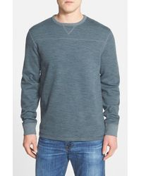 Tommy Bahama | Blue 'slubtropic' Island Modern Fit Reversible Crewneck Sweatshirt for Men | Lyst