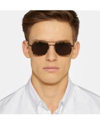 Thom Browne   Brown Aviator-style Tortoiseshell Acetate Sunglasses for Men   Lyst