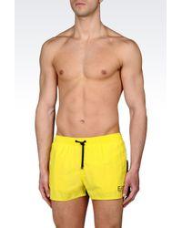 EA7 | Yellow Sea World Line Swimsuit for Men | Lyst