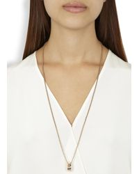 Vitaly | Metallic Trekant Rose Gold-plated Necklace | Lyst