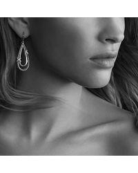 David Yurman   Metallic X Drop Earrings With Diamonds   Lyst