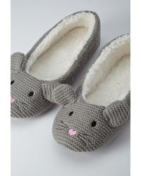 Forever 21 - Gray Mouse Slippers - Lyst