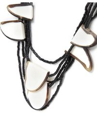 Jules B - Gray Pebble Necklace - Lyst