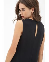 Forever 21 | Black Drop-waist Crepe Dress You've Been Added To The Waitlist | Lyst