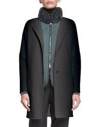 Loro Piana - Gray Dean Cashmere Button-front Coat - Lyst