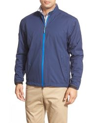 Peter Millar | Blue 'holland' Three-layer Waterproof Rain Jacket for Men | Lyst
