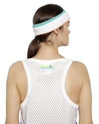 Adidas By Stella McCartney | Multicolor Tie Dyed Printed Jersey & Mesh Tank Top | Lyst