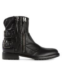 Giuseppe Zanotti - Black Side Zip Fastening Boots for Men - Lyst