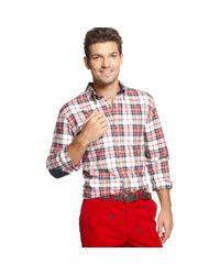 Tommy Hilfiger - Red Zane Plaid Shirt for Men - Lyst
