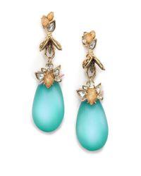 Alexis Bittar - Blue Desert Jasmine Lucite, Jasper & Crystal Iridescent Bumble Bee Drop Earrings - Lyst
