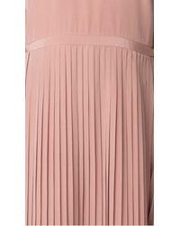 Tibi - Pink Silk Pleated Halter Dress - Lyst