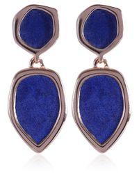 Monica Vinader - Blue Rose Gold Vermeil Lapis Cocktail Earrings - Lyst