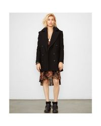 Denim & Supply Ralph Lauren - Black Wool Pea Coat - Lyst