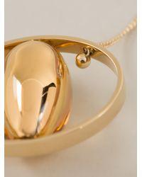 Chloé | Metallic Orb Pendant Necklace | Lyst