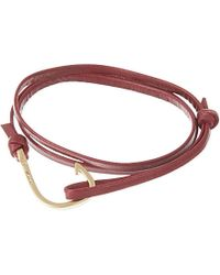 Miansai | Purple Matte Hook Leather Bracelet - For Men | Lyst