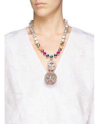 Erickson Beamon - Multicolor ''bucky Ball' Crystal Drop Necklace - Lyst