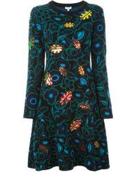 KENZO - Black 'shadow Flowers' Dress - Lyst