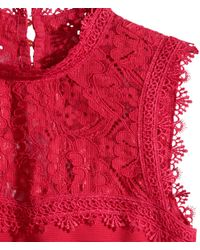 H&M - Red Sleeveless Top - Lyst