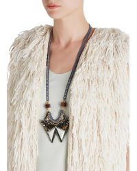 Nocturne | Multicolor Tess Embellished Necklace | Lyst