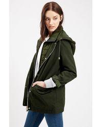 TOPSHOP | Green 'kiora' Jacket | Lyst