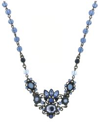 2028 | Blue Crystal Flower Pendant | Lyst