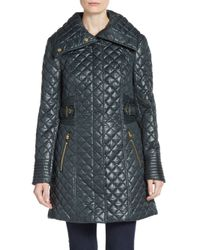 Via Spiga | Green Quilted A-line Jacket | Lyst