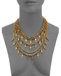 Giles & Brother - Metallic Multi-chain Thorn Necklace - Lyst