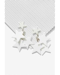 Nasty Gal | White Star Me Up Earrings | Lyst