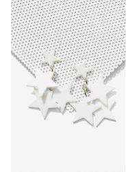 Nasty Gal - White Star Me Up Earrings - Lyst