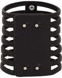 Isabel Marant - Black Leather Parade 7 Row Bracelet - Lyst