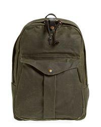 Filson   Green 'journeyman' Coated Canvas Backpack for Men   Lyst