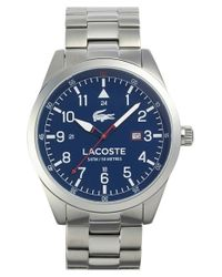 Lacoste - Metallic 'montreal' Round Bracelet Watch for Men - Lyst