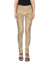 Pinko | Natural Denim Trousers | Lyst