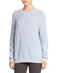 VINCE | Blue Directional Rib Wool/cashmere Sweater | Lyst