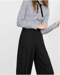 Zara | Black Basic Poplin Shirt | Lyst