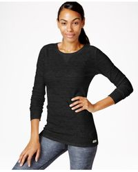 Calvin Klein | Black Thermal Long-sleeve Top | Lyst