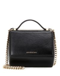 Givenchy - Black Pandora Box Chain Patent Leather Shoulder Bag - Lyst