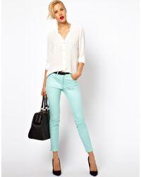 Mango - Blue Coloured Skinny Jean - Lyst