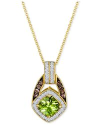 Le Vian | Yellow Peridot (7/8 Ct. T.w.) And Diamond (1/4 Ct. T.w.) Pendant Necklace In 14k Gold | Lyst