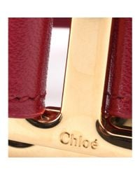 Chloé | Pink Drew Leather Bracelet | Lyst