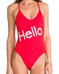 Wildfox | Red Charlie! Classic One Piece | Lyst