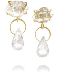 Melissa Joy Manning | Metallic 14-Karat Gold, Herkimer Diamond And Topaz Earrings | Lyst