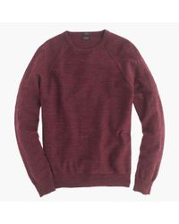 J.Crew | Red Slim Rugged Cotton Sweater for Men | Lyst