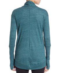 Alternative Apparel | Blue Open-front Knit Cardigan | Lyst