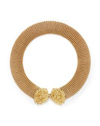 Ela Stone | Metallic Lionnie Chain Mesh Collar Necklace | Lyst